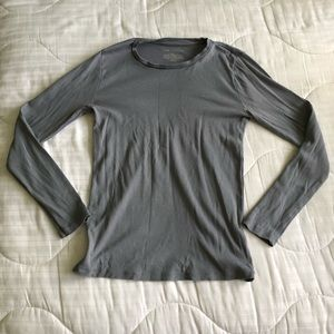 Gray long sleeve shirt from Ann Taylor